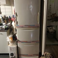 limiaキッチン同好会/新生活/セリア/キッチン収納/キッチン/暮らし/... 前からしたかった冷蔵庫のリメイク。 全体…(2枚目)