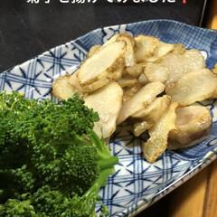 健康/晩ご飯 今日の晩ご飯😋菊芋をスライスしてあげまし…