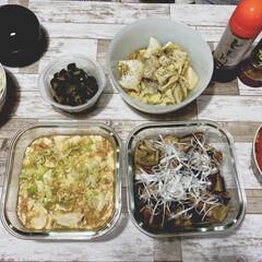 レンチンレシピ/山本ゆりさんレシピ/生活の知恵/おうちごはん/時短レシピ/ラク家事 早速、夜ご飯に三品作りました! 麻婆豆腐…