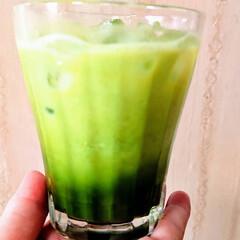 SMILEkitchen/ジンジャーレモン/抹茶ミルク/令和の一枚/至福のひととき/おやつタイム 体調いまいちの日曜日。 ちょっと水分補給…