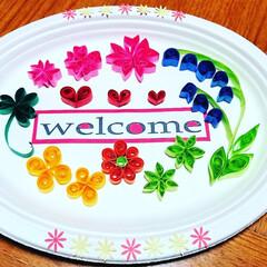 春飾り/紙皿アート/クイリング/お菓子ブーケ/ディズニー/切り絵/... 引きこもり対策(^^;でハンドメイド(◍…