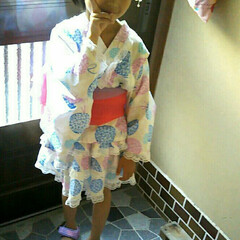 浴衣/夏コーデ 今日は、夕方から娘が通う保育園の夏祭りで…