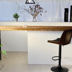 中古物件/セルフリノベーション/カラーボックス/イス/カウンターキッチン/カウンターテーブル/... 木と黒の雰囲気が好きです。 https:…