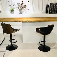 いす/カウンターチェア/イス/カウンターテーブル/キッチンカウンター/リノベーション/... 12月に注文してた椅子がようやく届きまし…