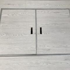 フロアパネル/モノトーン/セルフリノベーション/床材/ホワイトオーク/インテリア/... 綺麗にフロアパネルはれました。 http…