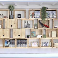 収納棚/本棚/押入れ/リメイク/リノベーション/収納/... 押入れに本棚をDIYしました。 作業風景…