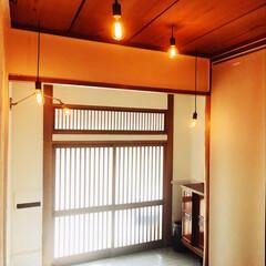 リノベーション/中古物件/漆喰/玄関/セルフリノベーション/DIY/... 照明つけて、ついに玄関完成しました。 今…