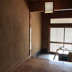 中古物件/セルフリノベーション/玄関/漆喰/漆喰壁/砂壁/... 漆喰塗る前。