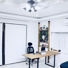 ディアウォール棚DIY/有孔ボード/ディアウォール棚/ディアウォール/セルフリノベーション/リノベーション/... ディアウォールで棚作りました。  htt…