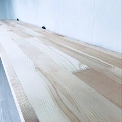 壁掛けシェルフ/ワトコオイル/壁掛け/セルフリノベーション/インテリア/DIY/... これからワトコオイルで塗装していきます。