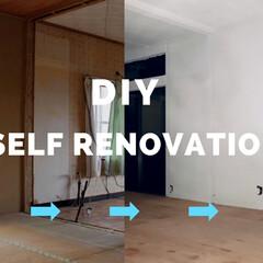 モルタル風/イマジンウォールペイント/グレーの壁/和室リメイク/和室リフォーム/和室から洋室/... モルタル風塗装の続きの動画作りました。部…