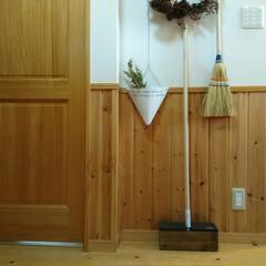 木製/掃除道具/ワイパー/DIY 無印良品の、木製ワイパーとdiyしたワイ…