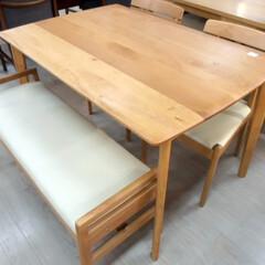 ニトリ/ダイニング/テーブル/ベンチ/チェア/イス/... ニトリのベンチダイニング4点セットを入荷…