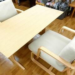 無印良品/無印/ダイニング/テーブル/椅子 /イス/... 無印用品のダイニング3点セットを入荷しま…