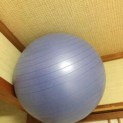 バランスボール/収納/暮らし 誰もがやっている バランスボール収納‼️…
