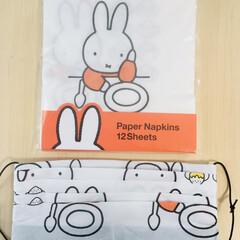 ペーパーナプキン/紙ナプキン/マスク/ダイソー/100均 百均のペーパーナプキン ミッフィーちゃん…