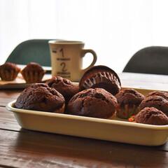 100均/セリア/レシピ/キッチン/カフェ 冷凍して保存している  ショコラカップケ…