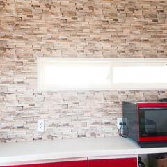 壁面収納DIY/壁面収納棚/壁面収納/キッチン収納DIY/収納棚/収納アイデア/... キッチンの収納棚完成しました✨ 土台にな…(3枚目)