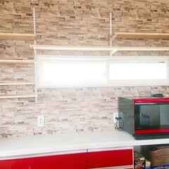壁面収納DIY/壁面収納棚/壁面収納/キッチン収納DIY/収納棚/収納アイデア/... キッチンの収納棚完成しました✨ 土台にな…(6枚目)