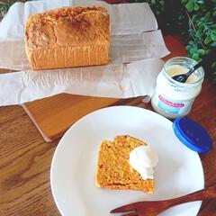 スイーツ作り/おやつ作り/おうちカフェ/うちカフェ/今日のおやつ/キャロットケーキ/... 子供とお菓子作り🍴 人参ケーキ焼きました…