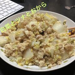 おから/ツナ缶/ツナ/野菜/おうちごはんクラブ/おうちごはん/... 白菜とツナとおからで作ったヘルシーレシピ…