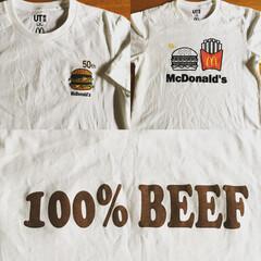 UNIQLO/Tシャツ/マクドナルド/ユニクロ マックTシャツが可愛すぎて 買っちゃいま…