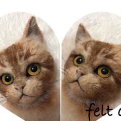 猫大好き/手作り/羊毛フェルト猫の作り方/ハンドメイド/茶トラ/羊毛フェルト/... 茶トラの猫ちゃん フェルトで、作ってみま…