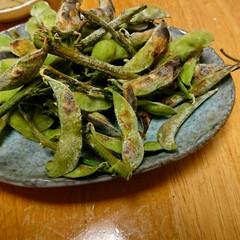 焼き枝豆/フード 枝豆は焼いた方が絶対にうまい!!