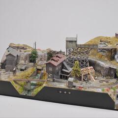 鉄道模型/ハンドメイド 300mm×600mmの中に 架空の鉱山…