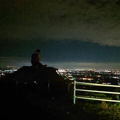 山/ドライブデート/フォロー大歓迎/風景/旅行 深夜のドライブ筑波山