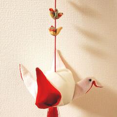 つるし雛/吊るし飾り/和室/雑貨/インテリア/住まい/... お義母さんが作ってくれた吊るし雛😊❤