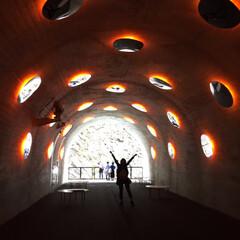 トンネル/インスタ映え/清津峡/春のフォト投稿キャンペーン/GW/おでかけ/... 清津峡のトンネル内のインスタ映えスポット…