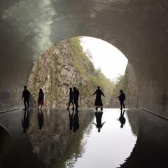新潟/トンネル/インスタ映え/清津峡/春のフォト投稿キャンペーン/GW/... 清津峡1番奥にあるインスタ映えスポットで…