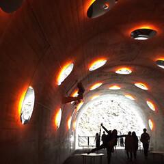 トンネル/インスタ映え/清津峡/春のフォト投稿キャンペーン/GW/おでかけ/... 清津峡のトンネル内のインスタ映えスポット…(2枚目)