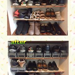 整理/整頓/シューズラック/ダイソー シューズラック/収納/雑貨/... ダイソーのシューズラックで靴箱を整理しま…
