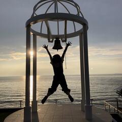 ジャンプ/シルエット/幸せの鐘/海/おでかけ/旅行/... 淡路島にて