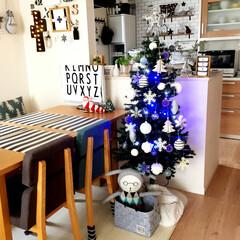 クリスマスディスプレイ/100均/ダイソー/北欧インテリア/ニトリ/フライングタイガー/... クリスマスディスプレイ。ツリーの差し色は…