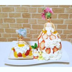 リカちゃん/リカちゃんケーキ/クリスマスケーキ/ドールケーキ/可愛い/楽しい/... お子様リクエストのリカちゃんケーキ🍰  …