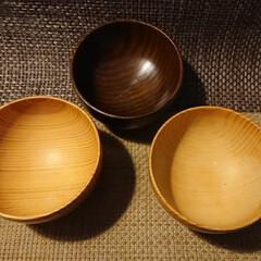 漆器/お椀/食器/木椀 20年来使い続けて漆の塗膜が剥離した木椀…