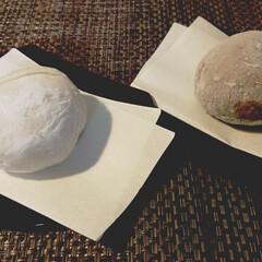 会津塗/蕎麦/小麦/お裾分け/菓子盆/酒粕/... 蕎麦団子〔ドンベ粕入り〕と麦団子の食べく…