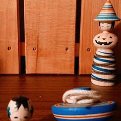 コマ/こけし/郷土玩具 姉歯マンション設営にかかる模様替えで見つ…