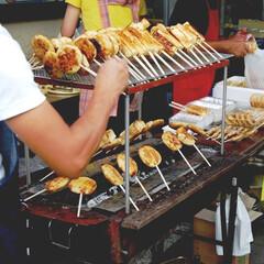 ファーストフード/郷土料理/露店商 祭りに欠かせない豆腐の田楽と串餅