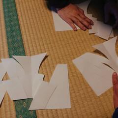 幣束/正月飾り/正月準備 神式の正月飾り。 和紙を裁ち、ひとがた〔…(2枚目)