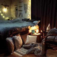 アロマランプ/寝室/ポンポンツリー/2018/クリスマス/クリスマスツリー/... 夫婦2人のマッタリ Xmas🎄✨
