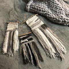 流木/ウィービングタペストリー/モノトーン/毛糸/ハンドメイド/雑貨/... 今年の冬はウィービングタペストリー作りに…