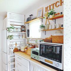 冷蔵庫横/ラブリコ/フォロー大歓迎/LIMIAインテリア部/キッチン雑貨/キッチン/... キッチンです*  冷蔵庫横のラブリコで作…