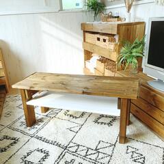 DIY女子/DIY主婦/テーブルDIY/DIY/簡単DIY/LIMIADIY同好会/... こんばんは✩.*  自室のテーブルをDI…(2枚目)