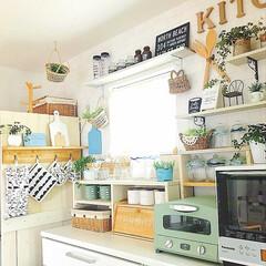 キッチン雑貨/グリーン/DIY/雑貨/100均/セリア/... * 白とブルーとナチュラル * 最近 大…(1枚目)