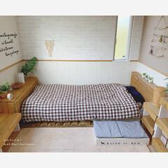 ボヘミアンインテリア風/ボヘミアンインテリア/bohoスタイル/BOHOインテリア/ナチュラルインテリア/わんこのベッド/... 自室のpicばかりで失礼します* ベッド…