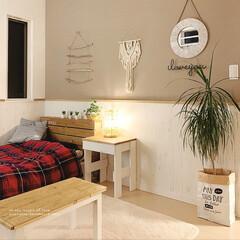 手作りテーブル/サイドテーブルDIY/DIY女子/テーブルランプ/ボヘミアンインテリア/bohoスタイル/... こんばんは☽・:* 寝室を模様替えしまし…